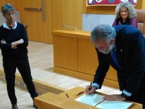 Firma Manifiesto alcalde Talavera