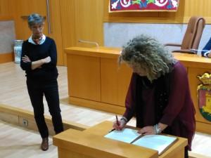 Firma Manifiesto alcaldesa Aranjuez
